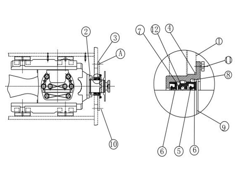 Installation sketch of Crosshead Extension Rods and Stuffing Box Seals